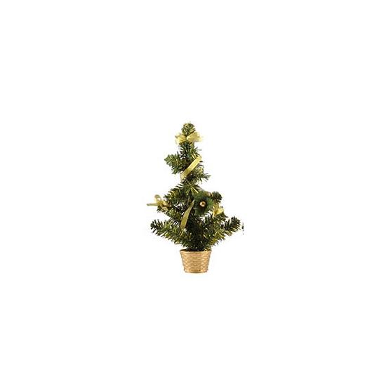 Kerstboompje versierd goud 36 cm
