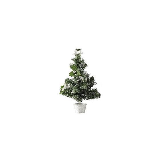 Kerstboompje versierd zilver 36 cm