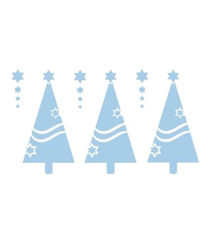 Kerstdecoratie raamsjabloon kerstboom