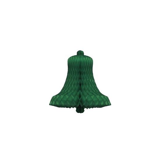 Kerstklok van groen honingraat papier