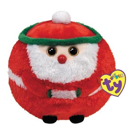 Kerstman bal knuffeltje 12 cm
