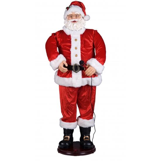 Kerstman pop met microfoon