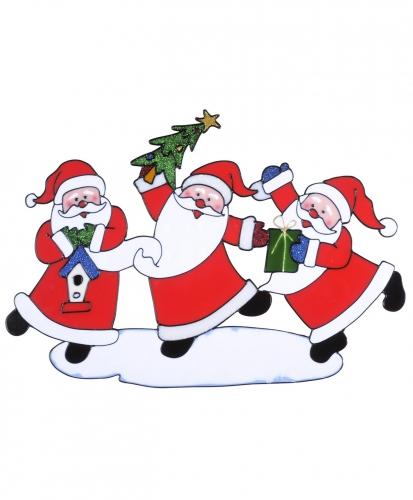 Kerstmannen raamsticker enkelzijdig