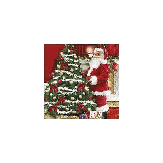 Kerstmis decoratie servetten 20 stuks