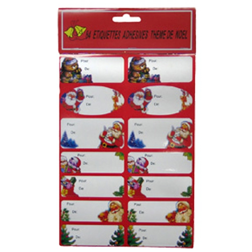 Kerststickervel labels