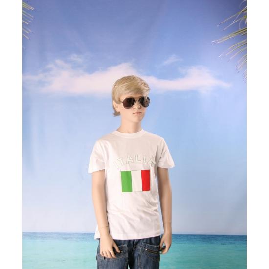 Kinder t shirts van vlag Italie