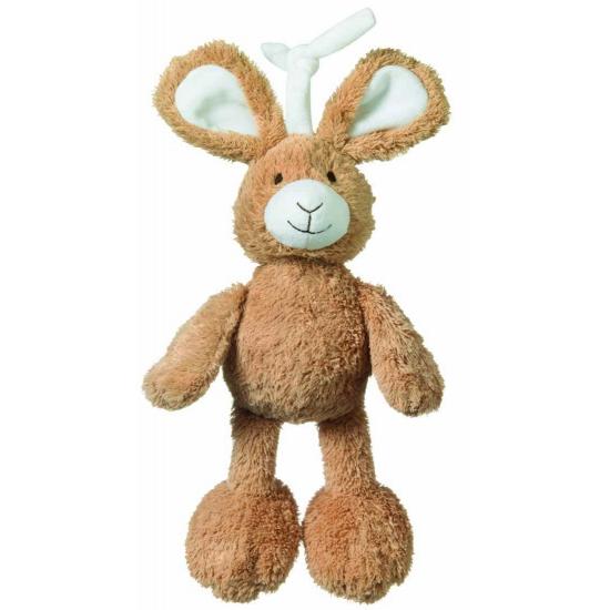 Knuffel konijntje met muziek 25 cm