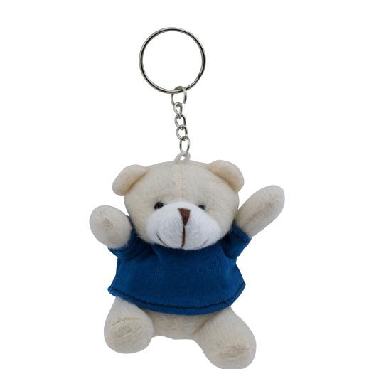 Knuffelbeer sleutelhanger blauw