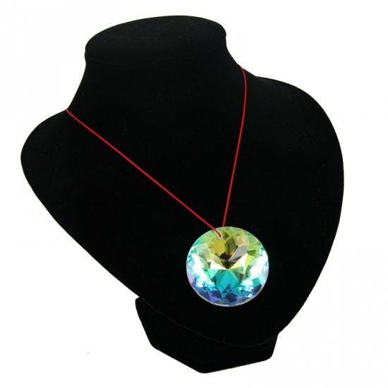 Kristallen hanger regenboog kleuren ketting