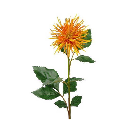 Kunst Chrysant 71 cm oranje/geel