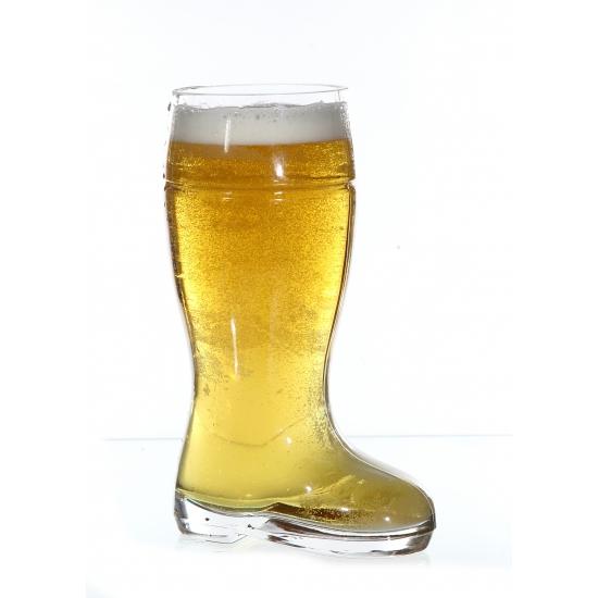 Laarzen bierglas halve liter