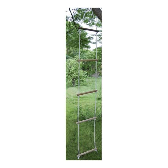 Ladder met touwen om in te klimmen
