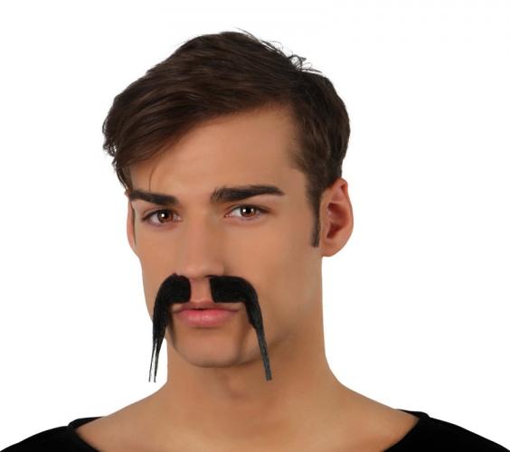 Lange zwarte snor