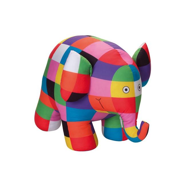 Lapjesolifant Elmer knuffel 20 cm