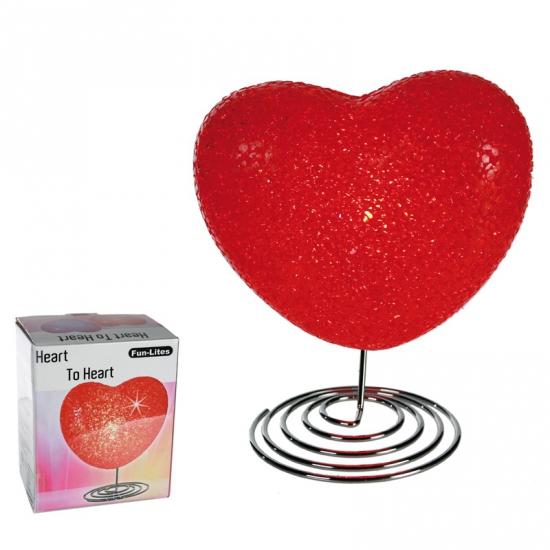 LED lamp rood hart 16 5 cm