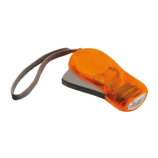 LED zaklamp knijpkat 10 5 x 5 x 2 cm oranje