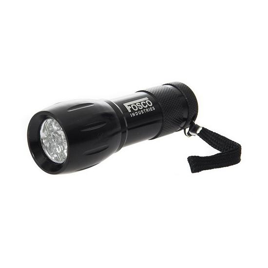 LED zaklampje zwart 10 cm