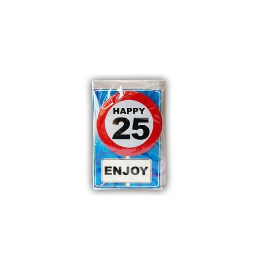 Leeftijd ansichtkaart 25 jaar
