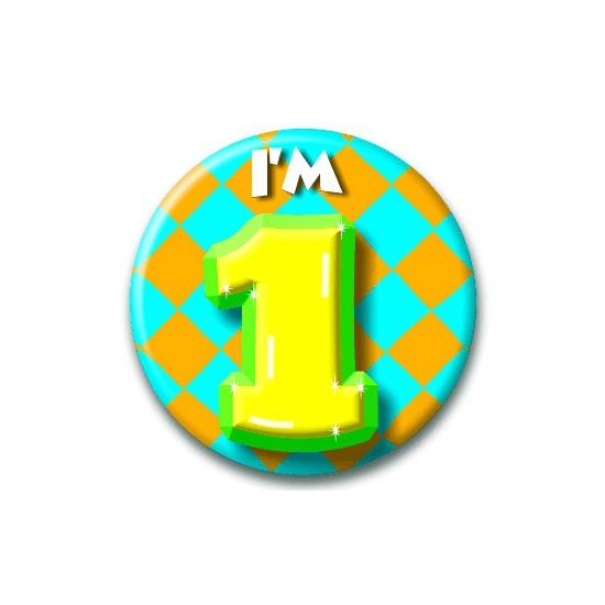 Leeftijd button 1 jaar