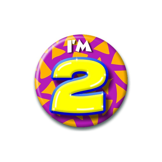 Leeftijd button 2 jaar
