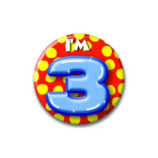 Leeftijd button 3 jaar