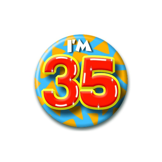Leeftijd button 35 jaar