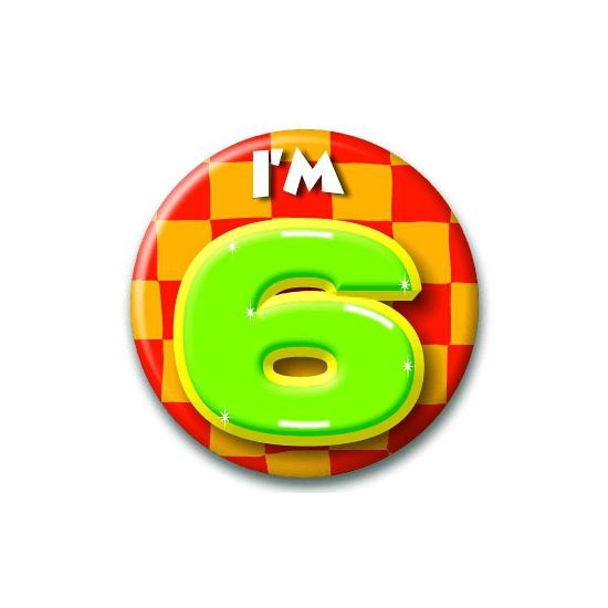 Leeftijd button 6 jaar