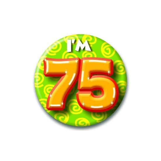 Leeftijd button 75 jaar