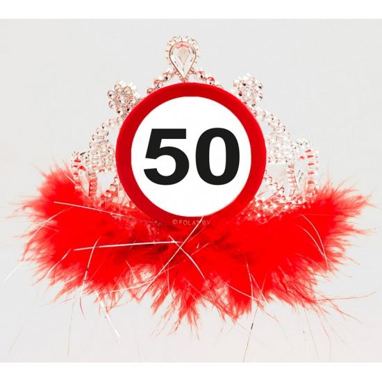Leeftijd feestartikelen tiara 50 jaar
