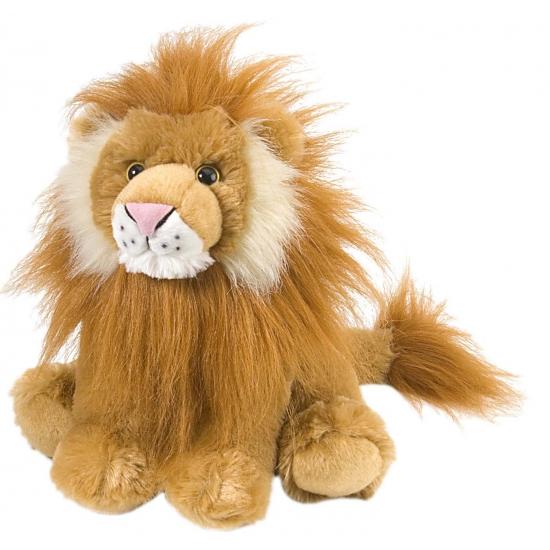 Leeuwen knuffel met kraalogen 30 cm