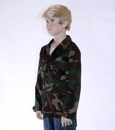 Leger jas kinderen camouflage print