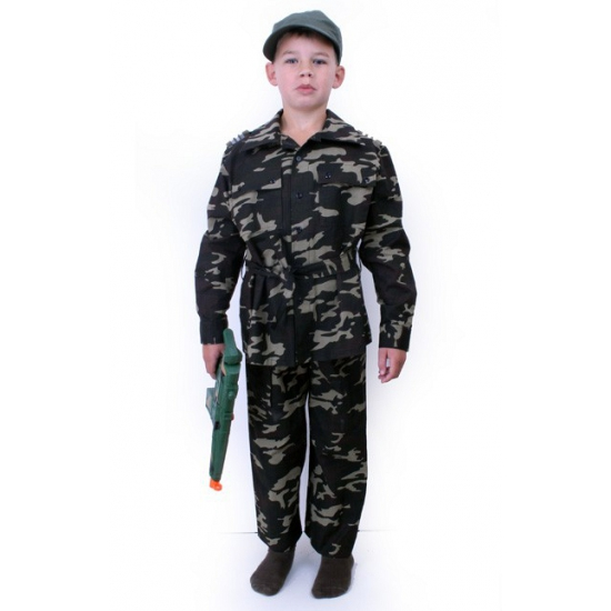 Leger kostuum voor kids met camouflage print