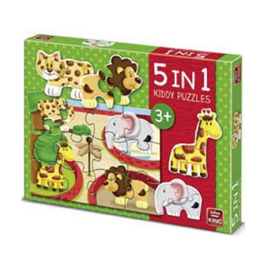 Legpuzzels dierentuin dieren 5 in 1
