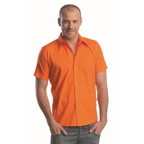Lemon amp Soda overhemd met korte mouw oranje