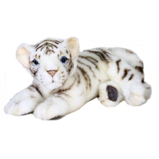 Levensechte witte pluche tijger 26 cm