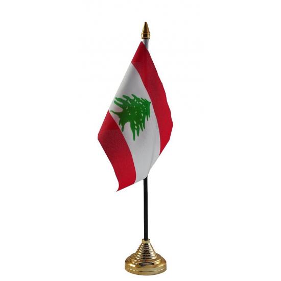 Libanon vlaggetje voor op tafel