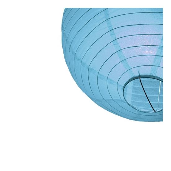 Lichtblauwe lampionnen 25 cm