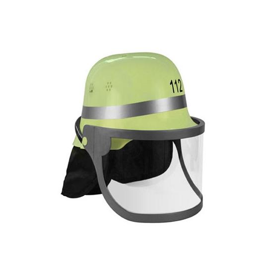 Lichtgele Duitse brandweer helm