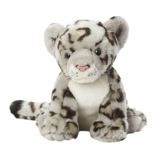 Lichtgrijs gevlekte luipaarden knuffel 22 cm