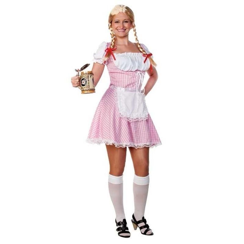 Lichtroze Beiers dames jurkje