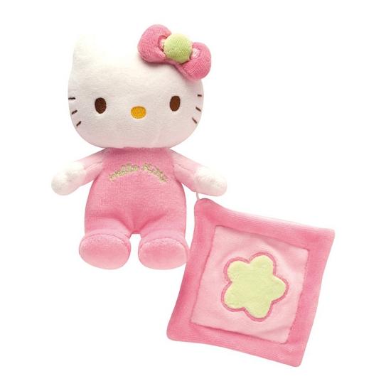 Lichtroze Hello Kitty baby knuffeltje