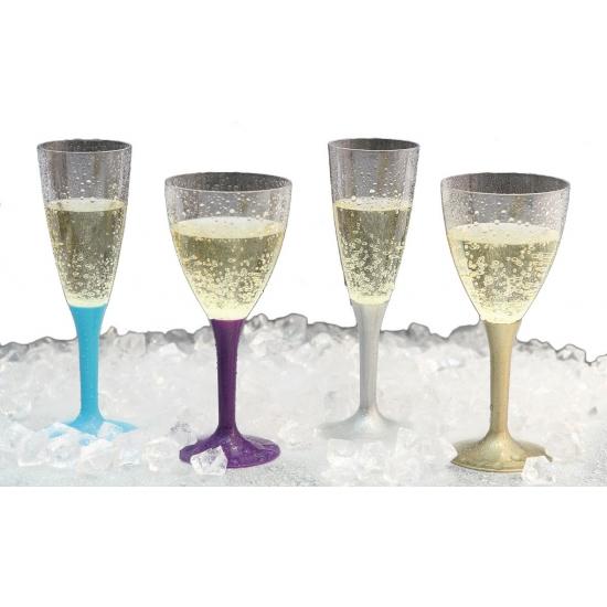 Lichtroze wijnglazen 10 stuks
