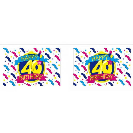 Luxe slinger Happy 40th Birthday