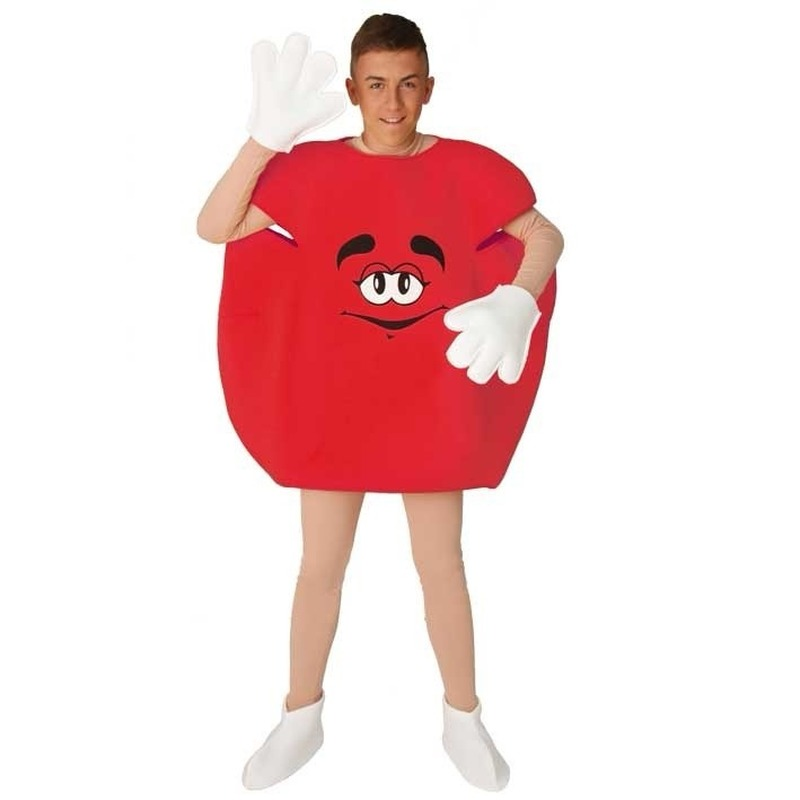 M en M outfit rood