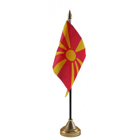 Macedonie vlaggetje voor op tafel