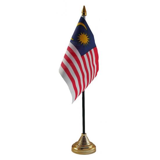 Maleisie vlaggetje voor op tafel