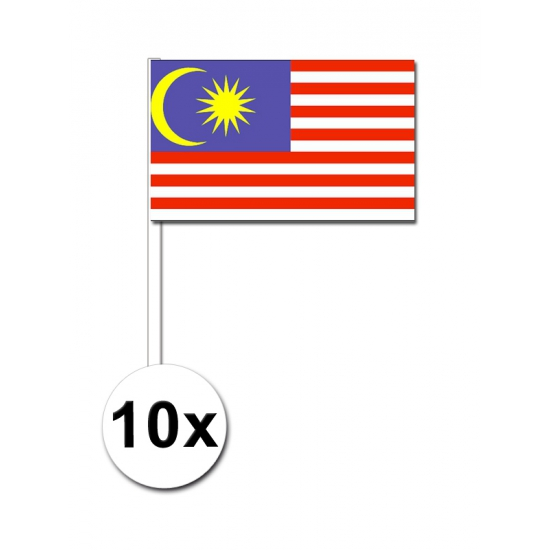 Maleisie zwaai vlaggetjes 10 stuks