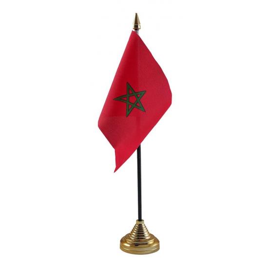Marokko vlaggetje voor op tafel