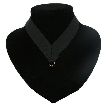Medaille lint licht zwart