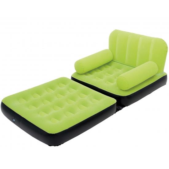 Mega opblaasbare groene sofa 191 cm